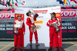 430 podium: class winner #31 Ferrari of Ontario Ferrari F430 Challenge: Damon Ockey, second place #89 Ferrari of Ontario Ferrari F430 Challenge: Ryan Ockey, third place #64 Algar Ferrari Ferrari F430 Challenge: Frank Fusillo