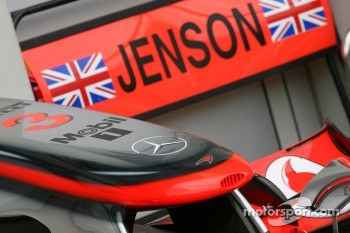 Jenson Button, McLaren Mercedes nose cone