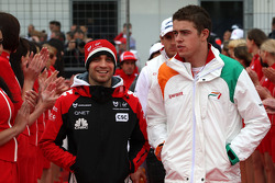 Jerome d'Ambrosio, Marussia Virgin Racing, Paul di Resta, Force India F1 Team