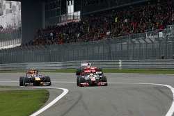 Mark Webber, Red Bull Racing, Lewis Hamilton, McLaren Mercedes and Fernando Alonso, Scuderia Ferrari
