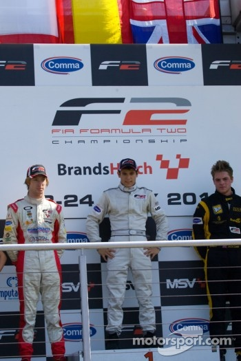 Podium from left: Mirko Bortolotti, Ramon Pineiro and Jack Clarkee