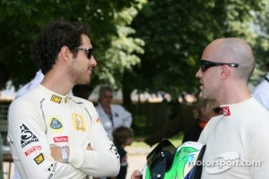 Marino Franchitti with Bruno Senna at Goodwood Festival of Speed