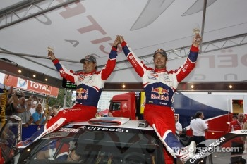Winners Sébastien Loeb and Daniel Elena