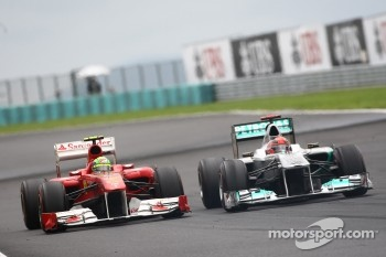 Felipe Massa, Scuderia Ferrari and Michael Schumacher, Mercedes GP F1 Team