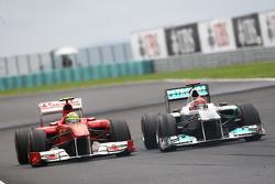 Felipe Massa, Scuderia Ferrari and Michael Schumacher, Mercedes GP F1 Team