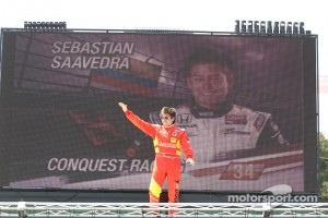 Saavedra, last year at Mid-Ohio drivers presentation