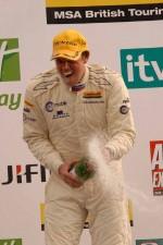 Paul O'Neill, GoMobile with Techspeed sprays champagne