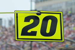 Joey Logano's pit sign