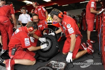 Ducati team members at work
