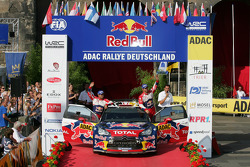 Podium: second place Sébastien Loeb and Daniel Elena, Citroën DS3 WRC, Citroën Total World Rally Team