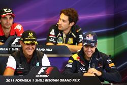 Michael Schumacher, Mercedes GP F1 Team and Sebastian Vettel, Red Bull Racing