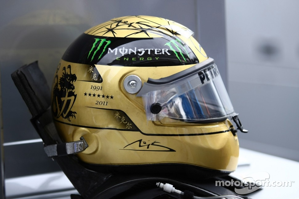 Special edition Michael Schumacher, Mercedes GP F1 Team helmet