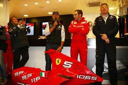Michael Schumacher, Mercedes GP F1 Team celebrates his first F1 drive at Spa 20 years ago