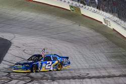 Race winner Brad Keselowski, Penske Racing Dodge celebrates