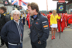 Bernie Ecclestone and Christian Horner, Red Bull Racing, Sporting Director
