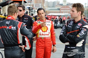 Ryan Briscoe, Helio Castroneves and Will Power