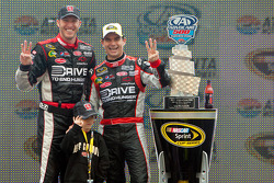 Victory lane: race winner Jeff Gordon, Hendrick Motorsports Chevrolet celebrates
