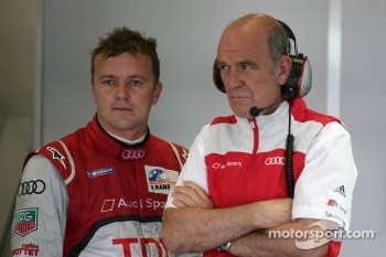 Marcel Fässler and Dr. Wolfgang Ullrich, Head of Audi Sport