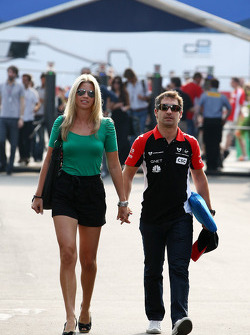 Isabell Reis girlfriend of Timo Glock and Timo Glock, Marussia Virgin Racing