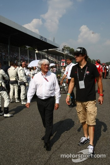 Bernie Ecclestone with Nicky Hayden, MotoGP rider