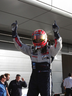 Race winner Simon Pagenaud celebrates