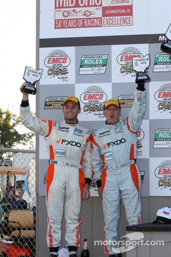 GT podium: second place Emil Assentato and Jeff Segal