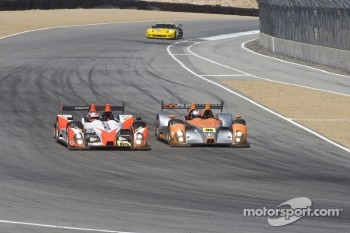 #05 Core Autosport Oreca FLM09: Jon Bennett, Frankie Montecalvo, Andy Wallace, #89 Intersport Racing Oreca FLM09: Kyle Marcelli, Chapman Ducote, David Ducote