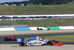 Graham Rahal, Service Central Chip Ganassi Racing involved in a restart crash