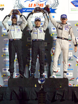 P2 podium: class winners Scott Tucker, Christophe Bouchut and Joao Barbosa