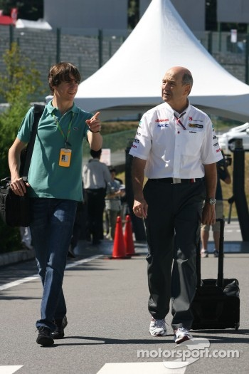 Esteban Gutierrez and Peter Sauber, Sauber F1 Team, Team Owner