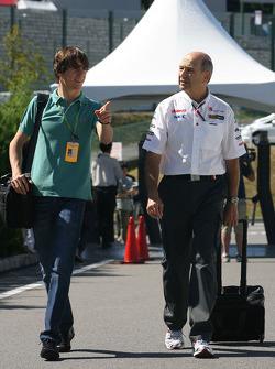 Esteban Gutierrez and Peter Sauber, Sauber F1 Team, Team Owner