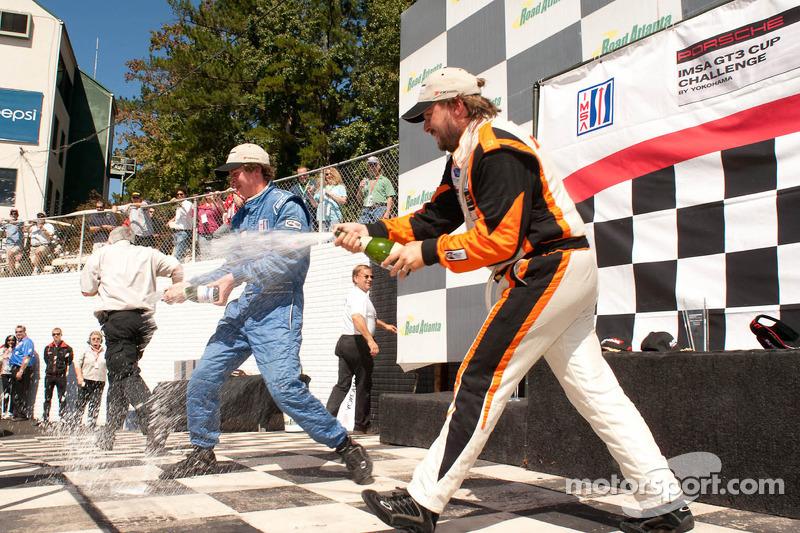GT3 Cup Gold Class Podium: Madison Snow, Michael Mills, Andres Cisneros