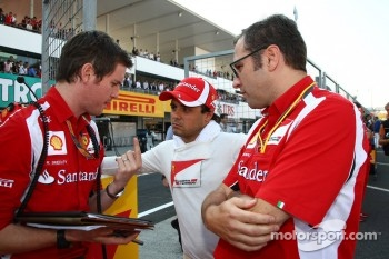 Rob Smedly, Scuderia Ferrari, Chief Engineer of Felipe Massa and Felipe Massa, Scuderia Ferrari and Stefano Domenicali Ferrari General Director