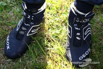Sebastian Vettel, Red Bull Racing boots with special coins