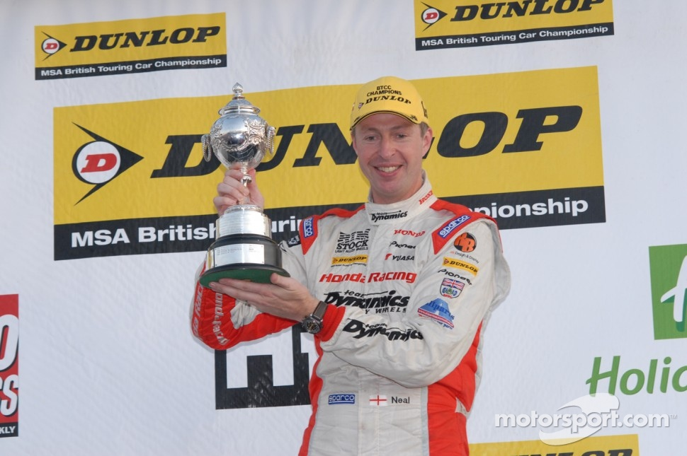 2011 Champion Matt Neal celebrates