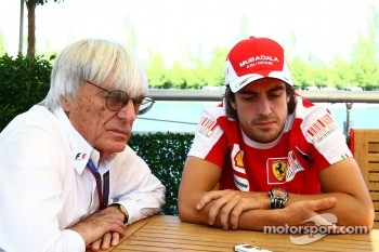 Bernie Ecclestone and Fernando Alonso, Scuderia Ferrari interview