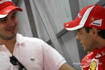 Felipe Massa, Scuderia Ferrari and his brother Dudu
