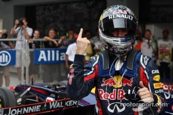 pole man Sebastian Vettel, Red Bull Racing