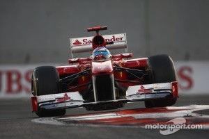 Alonso tested a new front wing