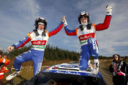 Rally winners Jari-Matti Latvala and Miikka Anttila, Ford Fiesta RS WRC, BP Ford Abu Dhabi World Rally Team