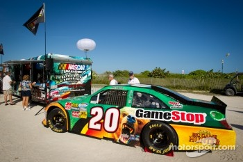 NASCAR Championship Drive in South Beach: car of Joey Logano on display