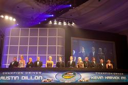 NASCAR Camping World Truck Series champion driver Austin Dillon, RCR Chevrolet, NASCAR Camping World Truck Series owner champion Kevin Harvick, Kevin Harvick Inc. Chevrolet
