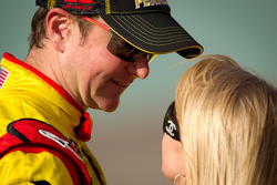 Kurt Busch, Penske Racing Dodge with girlfriend Patricia Driscoll