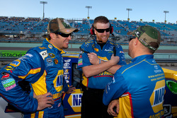 Martin Truex Jr., Michael Waltrip Racing Toyota is all smile as he sits on provisional pole