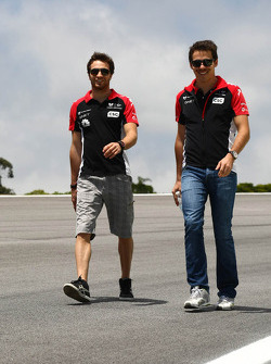 Jérôme d'Ambrosio, Marussia Virgin Racing and Robert Wickens