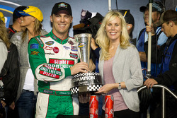 Championship podium: NASCAR Camping World Truck Series 2011 owner champions Kevin Harvick, Kevin Harvick Inc. Chevrolet and Delana Harvick