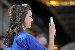 A fan takes a picture