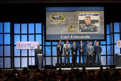 Carl Edwards, Kevin Harvick, Matt Kenseth, Brad Keselowski, Jimmie Johnson, Dale Earnhardt Jr., Jeff Gordon, Denny Hamlin, Ryan Newman, Kyle Busch and Kurt Busch