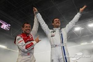 Winner Sébastien Ogier and Tom Kristensen