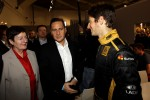 Eric Besson, French Industry Minister, with Romain Grosjean
